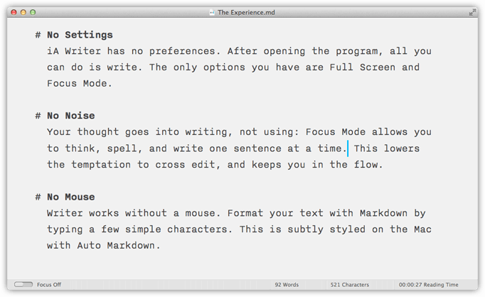 iA Writer screenshot (Mac)